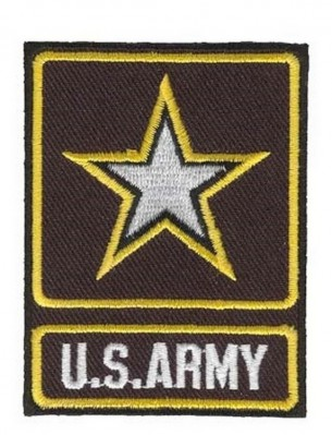 Фото НАШИВКИ U.S. ARMY WITH STAR AND OUTLINE PATCH (2.75