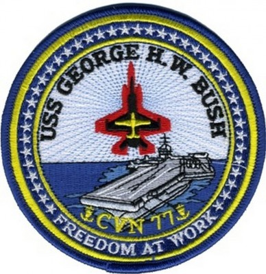 Фото нашивки USS GEORGE H.W. BUSH CVN 77