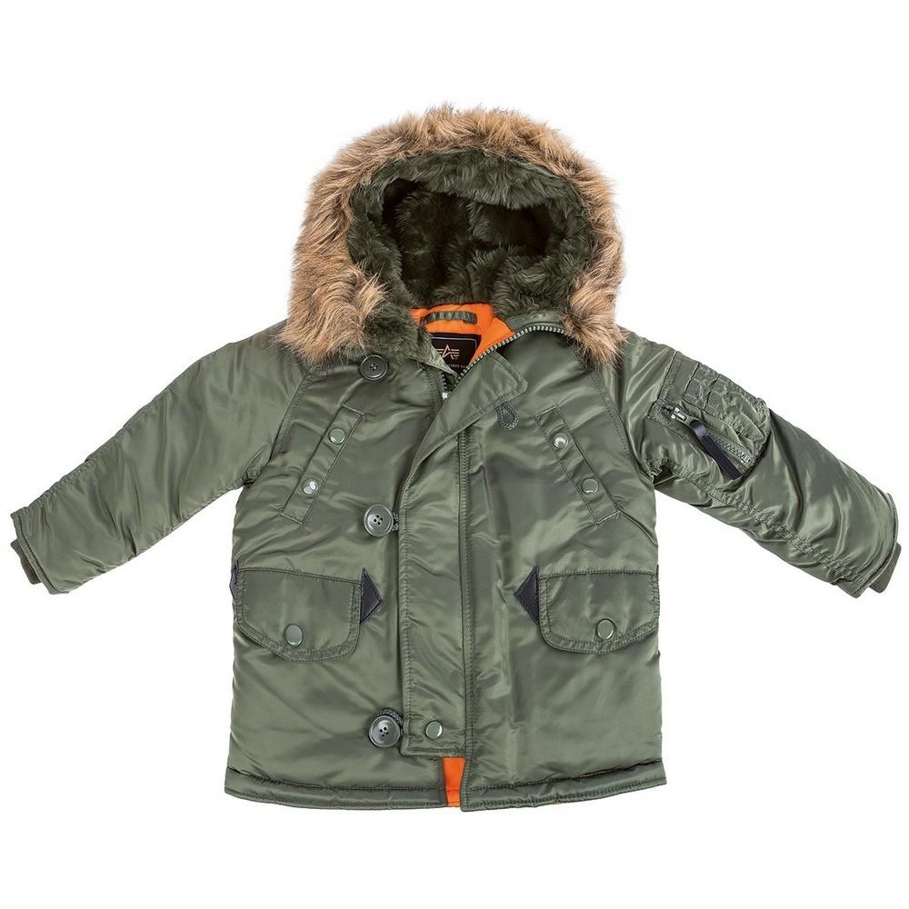 Купить детскую куртку Аляска Alpha Industries Youth N-3B Parka в ... 69c6c1a3c3c37