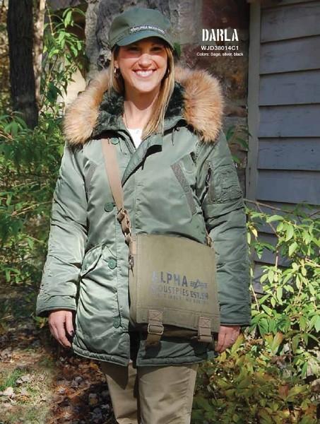 afc78bbc Женская одежда » Куртки женские » Женская куртка Аляска Alpha Industries  Darla Parka. Фото куртки Darla Parka, цвет оливковый
