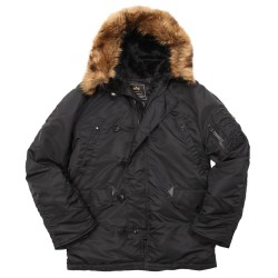 Фото куртки Аляска Alpha Industries N-3B Parka, цвет черный