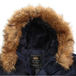 Фото капюшона куртки Аляска Alpha Industries N-3B Parka, цвет синий