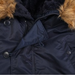 Фото застежки на куртке Аляска Alpha Industries N-3B Parka, цвет синий