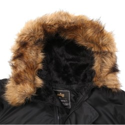 Фото капюшона куртки Аляска Alpha Industries N-3B Parka, цвет черный