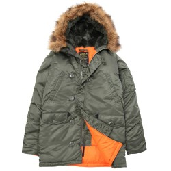 Фото Slim Fit N-3B Parka оливковый