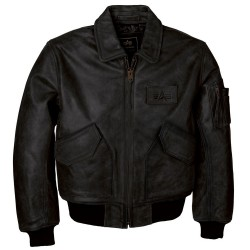 Фото куртки CWU-45/P Leather Flight Jacket, цвет черный