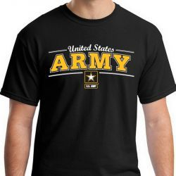 Футболка Армии США United States Army Logo Black Tee