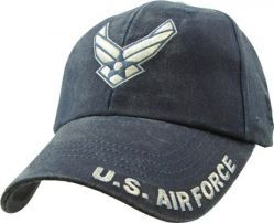 Бейсболка ВВС США U.S. Air Force Washed Dark Navy Cap