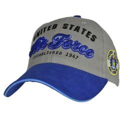 Бейсболка ВВС США United States Air Force With Side Logo Two Tone Royal-Grey Cap