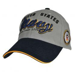 Бейсболка ВМС США U.S. Navy Two Tone Grey-Navy with Side Logo Cap
