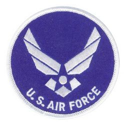 "Нашивка ВВС США U.S. AIR FORCE WITH HAP PATCH(3"")"