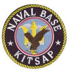"Нашивка Naval Base Kitsap Patch (4"")"