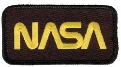 Нашивка Nasa Logo Black-Gold