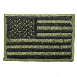 "Нашивка American Flag Olive Drab GREEN Patch (3.5"")"