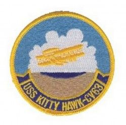 "Нашивка USS KITTY HAWK CV-63 PATCH (3"")"