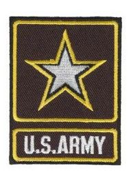 "НАШИВКА U.S. ARMY WITH STAR AND OUTLINE PATCH (2.75"")"