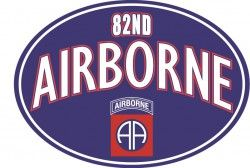 Магнит на холодильник 82ND AIRBORNE WITH LOGO MAGNET
