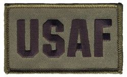 Нашивка из двух частей на липучке USAF 2 Piece Attach Olive Drab Green Patch 2 Х 3""