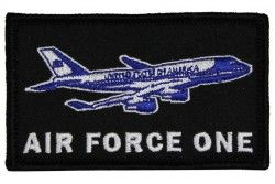 "Нашивка из двух частей на липучке Air Force One With Plane Patch(2 Х 3"")"