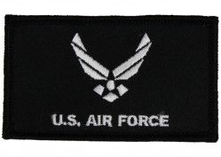 Нашивка из двух частей на липучке Air Force With Hap 2 Piece Attach Black Patch 2 Х 3""