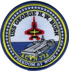 Нашивка USS GEORGE H.W. BUSH CVN 77