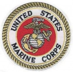 "Нашивка United States Marine White Patch (4"")"