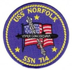"НАШИВКА USS NORFOLK SSN 714 PATCH (4"")"