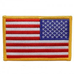 НАШИВКА REVERSED AMERICAN FLAG PATCH 3 1/2""