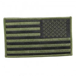 НАШИВКА AMERICAN GREEN REVERSED FLAG 3 X 5""