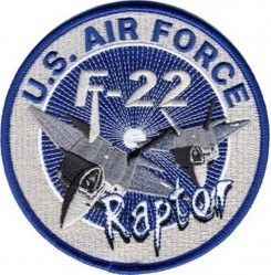 "НАШИВКА U.S. AIR FORCE F-22 RAPTOR PATCH (4"")"