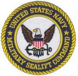 НАШИВКА MILITARY SEALIFT COMMAND PATCH 4""