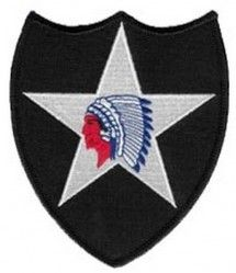 "НАШИВКА 2ND INFANTRY DIVISION SHOULDER PATCH (4"")"