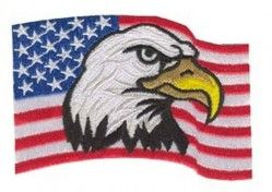 Нашивка AMERICAN FLAG WITH EAGLE HEAD