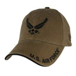 Бейсболка Air Force Wings Logo Coyote Brown Washed Cap