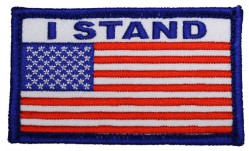 Нашивка American Flag with I Stand
