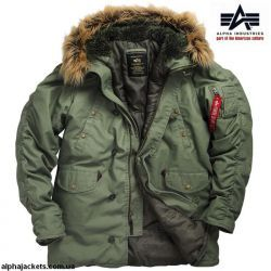 Куртка Аляска Slim Fit Cotton N-3B Parka